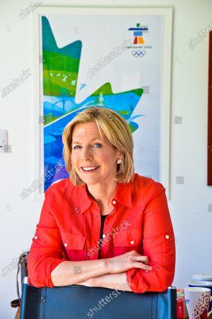 Editorial photo of Hazel Irvine photoshoot, Scotland, UK - 27 Jun 2019
