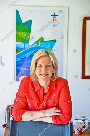 Stock Photo of Hazel Irvine - 'My Haven' the Garden Office at her Scottish Home