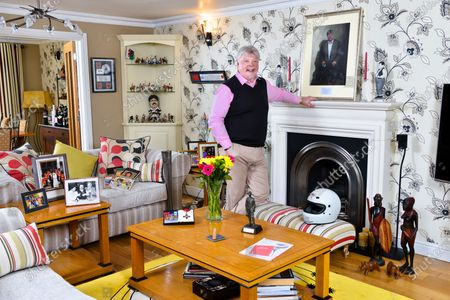 Simon Weston - 'My Haven' in the lounge of his Cardiff Home.