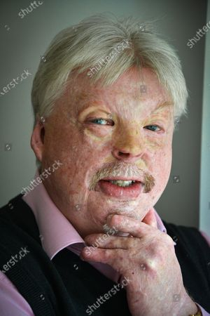 Stock Image of Simon Weston - 'My Haven' in the lounge of his Cardiff Home.