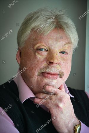 Stock Photo of Simon Weston - 'My Haven' in the lounge of his Cardiff Home.