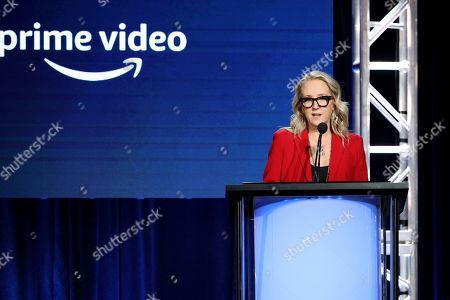 Head of Amazon Studios Jennifer Salke speaks at the Executive Session during the Amazon TCA 2020 Winter Press Tour at the Langham Huntington, in Pasadena, Calif