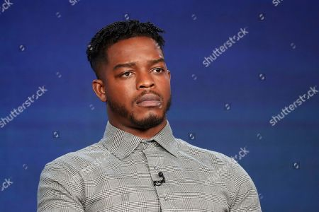 """Stephan James appears at the """"Homecoming"""" panel during the Amazon TCA 2020 Winter Press Tour at the Langham Huntington, in Pasadena, Calif"""