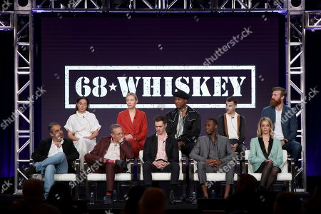 "Roberto Benabib, Cristina Rodlo, Michael Lehmann, Beth Riesgraf, Sam Keeley, Lamont Thompson, Jeremy Tardy, Nicholas Coombe, Gage Golightly, Derek Theler. Roberto Benabib, from left, Cristina Rodlo, Michael Lehmann, Beth Riesgraf, Sam Keeley, Lamont Thompson, Jeremy Tardy, Nicholas Coombe, Gage Golightly and Derek Theler speak at the ""68 Whiskey"" panel during the Paramount Network TCA 2020 Winter Press Tour at the Langham Huntington, in Pasadena, Calif"