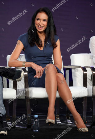"""Stock Image of Susan Fales-Hill speaks at the """"Twenties"""" panel during the BET Networks TCA 2020 Winter Press Tour at the Langham Huntington, in Pasadena, Calif"""
