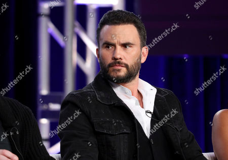 """Juan Pablo Raba appears at the """"Coyote"""" panel during the Paramount Network TCA 2020 Winter Press Tour at the Langham Huntington, in Pasadena, Calif"""
