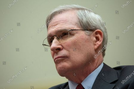 Stock Photo of Stephen J. Hadley, Former National Security Advisor, along with Richard Haass Ph.D., President of the Council on Foreign Relations and Avril Haines, Former Deputy National Security Advisor and Former Deputy Director of the Central Intelligence Agency, testifies before the US House Committee on Foreign Relations at the United States Capitol in Washington DC, following a US, drone strike that killed Iranian military leader Qasem Soleimani. United States Secretary of State Mike Pompeo, who was supposed to be the key witness appearing before the committee, declined to testify due to travel.