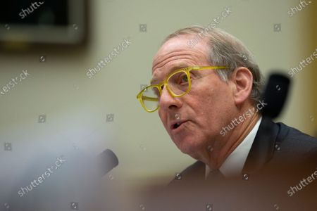 Stock Image of Richard Haass Ph.D., President of the Council on Foreign Relations, along with Avril Haines, Former Deputy National Security Advisor and Former Deputy Director of the Central Intelligence Agency, and Stephen J. Hadley, Former National Security Advisor, testifies before the US House Committee on Foreign Relations at the United States Capitol in Washington DC, following a US, drone strike that killed Iranian military leader Qasem Soleimani. United States Secretary of State Mike Pompeo, who was supposed to be the key witness appearing before the committee, declined to testify due to travel.