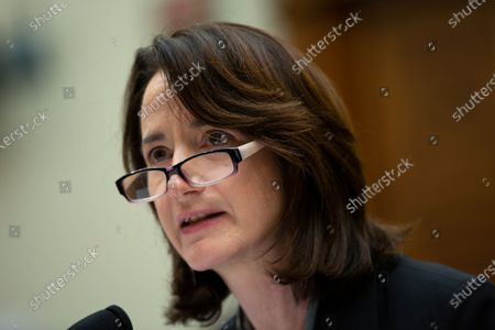 Stock Picture of Avril Haines, Former Deputy National Security Advisor and Former Deputy Director of the Central Intelligence Agency, along with Richard Haass Ph.D., President of the Council on Foreign Relations, and Stephen J. Hadley, Former National Security Advisor, testify before the US House Committee on Foreign Relations at the United States Capitol in Washington DC, following a US, drone strike that killed Iranian military leader Qasem Soleimani. United States Secretary of State Mike Pompeo, who was supposed to be the key witness appearing before the committee, declined to testify due to travel.