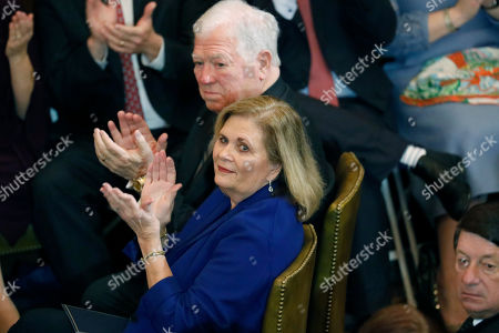 Haley Barbour, Marsha Barbour. Former Mississippi Gov. Haley Barbour and wife Marsha Barbour applaud as current statewide elected officials are introduced prior to the inauguration ceremony of Gov.-elect Tate Reeves, at the Capitol in Jackson, Miss