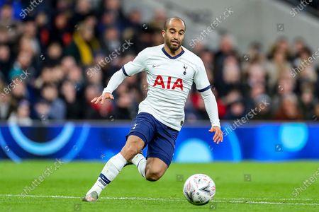 Tottenham Hotspur midfielder Lucas Moura (27) during the The FA Cup third round replay match between Tottenham Hotspur and Middlesbrough at Tottenham Hotspur Stadium, London