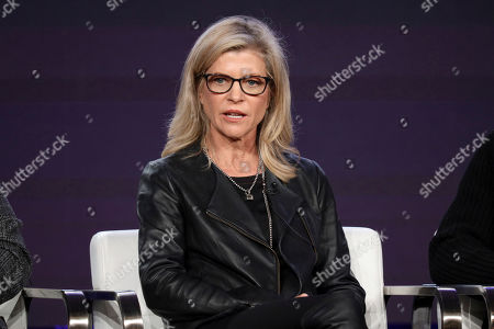 """Michelle MacLaren speaks at the """"Coyote"""" panel during the Paramount Network TCA 2020 Winter Press Tour at the Langham Huntington, in Pasadena, Calif"""