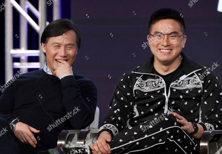 """BD Wong, Bowen Yang. BD Wong, left, and Bowen Yang speak at the """"Akwafina is Nora from Queens"""" panel during the Comedy Central TCA 2020 Winter Press Tour at the Langham Huntington, in Pasadena, Calif"""