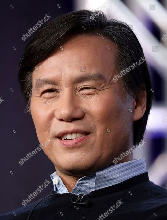"""BD Wong speaks at the """"Akwafina is Nora from Queens"""" panel during the Comedy Central TCA 2020 Winter Press Tour at the Langham Huntington, in Pasadena, Calif"""