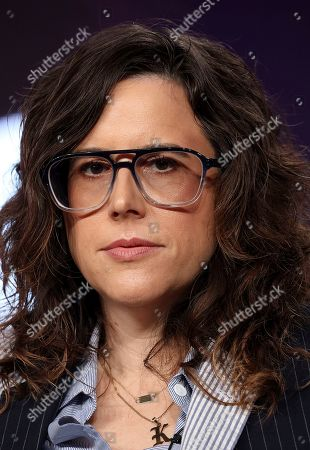 """Karey Dornetto speaks at the """"Akwafina is Nora from Queens"""" panel during the Comedy Central TCA 2020 Winter Press Tour at the Langham Huntington, in Pasadena, Calif"""