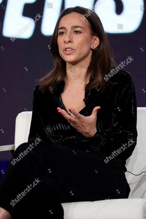 """Stock Picture of Lucia Aniello speaks at the """"Akwafina is Nora from Queens"""" panel during the Comedy Central TCA 2020 Winter Press Tour at the Langham Huntington, in Pasadena, Calif"""