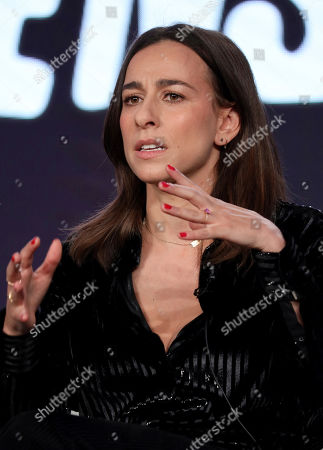 """Stock Photo of Lucia Aniello speaks at the """"Akwafina is Nora from Queens"""" panel during the Comedy Central TCA 2020 Winter Press Tour at the Langham Huntington, in Pasadena, Calif"""