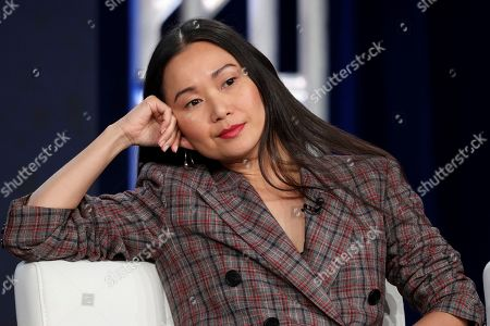 "Hong Chau speaks at the ""Homecoming"" panel during the Amazon TCA 2020 Winter Press Tour at the Langham Huntington, in Pasadena, Calif"