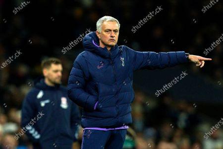 Tottenham manager Jose Mourinho during the FA Cup third round soccer match between Tottenham and Middlesborough at Tottenham Hotspur Stadium, London, Britain, 14 January 2020.
