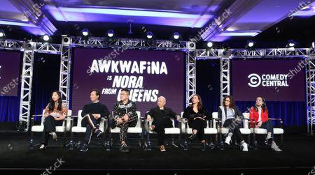 Awkwanfina, BD Wong, Bowen Yang, Lori Tan China, Lucia Aniello, Karen Dornetto and Teresa Hsiao
