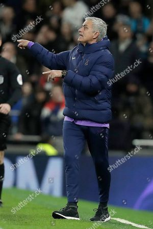 Tottenham's manager Jose Mourinho gestures during the English FA Cup third round replay soccer match between Tottenham Hotspur and Middlesbrough FC at the Tottenham Hotspur Stadium in London