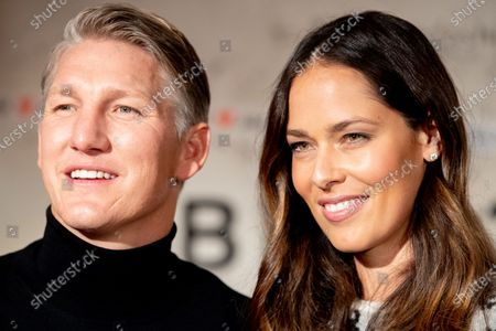 Brand ambassadors for fashion company Brax, German soccer player Bastian Schweinsteiger (L) and his wife, former Serbian tennis player Ana Schweinsteiger-Ivanovic pose during the Berlin Fashion Week, in Berlin, Germany, 14 January 2020. The Berlin Fashion Week presents creations of the Fall/Winter 2020 collections and runs from 13 to 17 January.