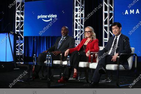 Stock Picture of Vernon Sanders, Jennifer Salke and Albert Cheng