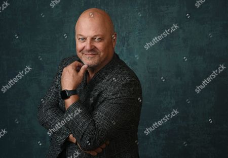 """Michael Chiklis, star and executive producer of the Paramount Network series """"Coyote,"""" poses for a portrait during the 2020 Winter Television Critics Association Press Tour, in Pasadena, Calif"""
