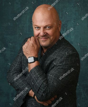 """Michael Chiklis, the star and executive producer of the Paramount Network series """"Coyote,"""" poses for a portrait during the 2020 Winter Television Critics Association Press Tour, in Pasadena, Calif"""