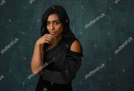 "Stock Image of Adriana Paz, a cast member in the Paramount Network series ""Coyote,"" poses for a portrait during the 2020 Winter Television Critics Association Press Tour, in Pasadena, Calif"