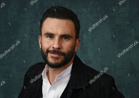 """Stock Image of Juan Pablo Raba, a cast member in the Paramount Network series """"Coyote,"""" poses for a portrait during the 2020 Winter Television Critics Association Press Tour, in Pasadena, Calif"""