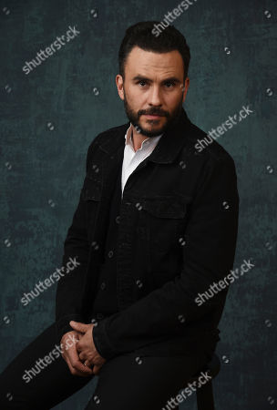 """Juan Pablo Raba, a cast member in the Paramount Network series """"Coyote,"""" poses for a portrait during the 2020 Winter Television Critics Association Press Tour, in Pasadena, Calif"""
