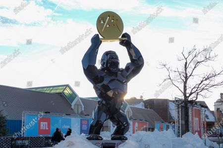 Richard Orlinski Statue for the 23rd L'Alpe D'Huez International Comedy Film Festival