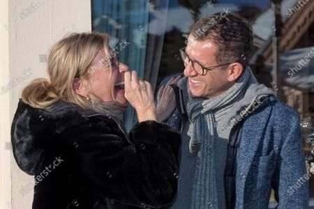 Michele Laroque and Dany Boon attending the first day of the 23rd L'Alpe D'Huez International Comedy Film Festival