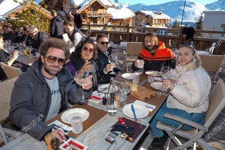 Nicolas Benamou, Sabrina Ouazani, Jose Garcia, Bob Sinclar and Chloe Jouannet attending the first day of the 23rd L'Alpe D'Huez International Comedy Film Festival