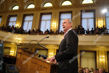 New Jersey Gov. Phil Murphy speaks at the State of the State address in Trenton, N.J., . Murphy, a Democrat, delivered his second State of the State speech Tuesday before a joint session of the Democrat-led Legislature, sketching his agenda for the year