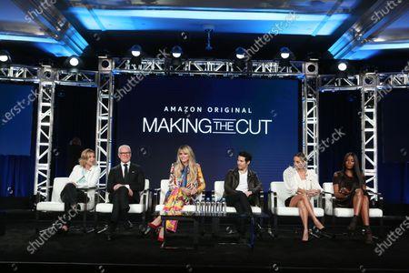 Stock Image of Sara Rea, Tim Gunn, Heidi Klum, Joseph Altuzarra, Nicole Richie and Naomi Campbell
