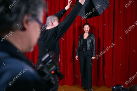 French actress Virginie Ledoyen poses for photographers prior to the presentation of the Ready to Wear collection by Ami fashion house during the Paris Fashion Week, in Paris, France, 14 January 2020. The presentations of the Fall/Winter 2020/2021 menswear collections run from 14 to 19 January.