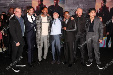 Chad Oman, Adil El Arbi, Will Smith, Joe Pantoliano, Martin Lawrence, Bilall Fallah and Charles Melton