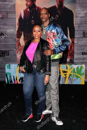 Stock Image of Shante Taylor and Snoop Dogg