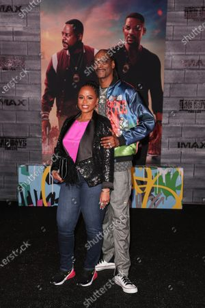 Stock Picture of Shante Taylor and Snoop Dogg