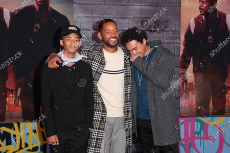 Jaden Smith, Will Smith and Trey Smith