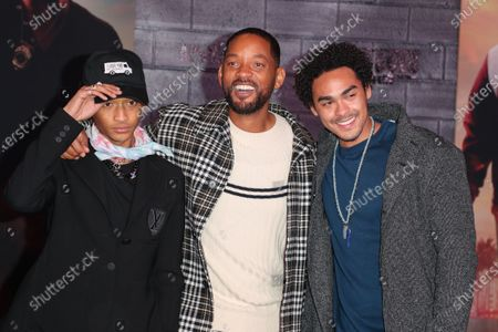 Stock Picture of Jaden Smith, Will Smith and Trey Smith