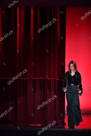 French actress and model Audrey Marnay presents a creation from the Fall/ Winter 2020/2021 Ready to Wear collection by French designer Alexandre Mattiussi for AMI fashion house during the Paris Fashion Week, in Paris, France, 14 January 2020. The presentation of the men's collections runs from 14 to 19 January.