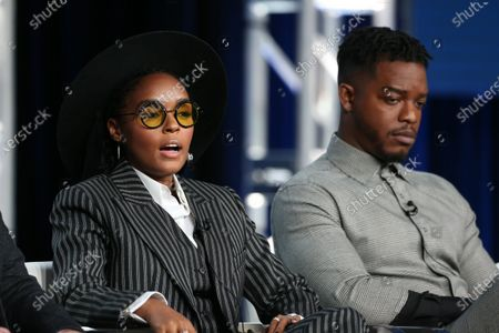 Stock Image of Janelle Monae and Stephan James