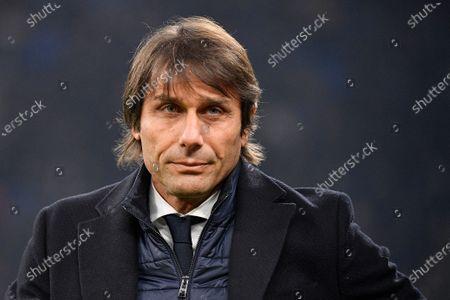 Coach Antonio Conte of FC Internazionale