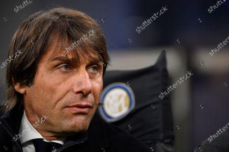 Stock Picture of Coach Antonio Conte of FC Internazionale