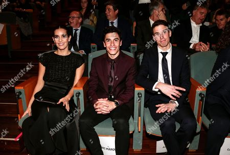 Stock Image of Ona Carbonell, Marc Marquez and Alex Marquez