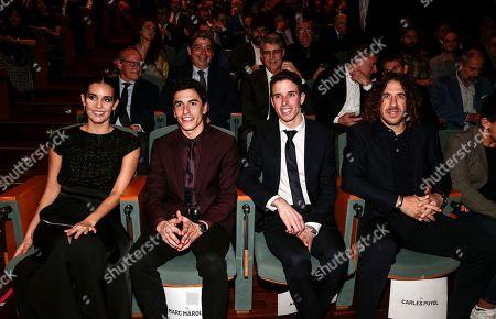 Ona Carbonell, Marc Marquez, Alex Marquez and Carles Puyol