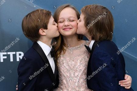 Stock Image of Cameron Crovetti, Ivy George and Nicholas Crovetti